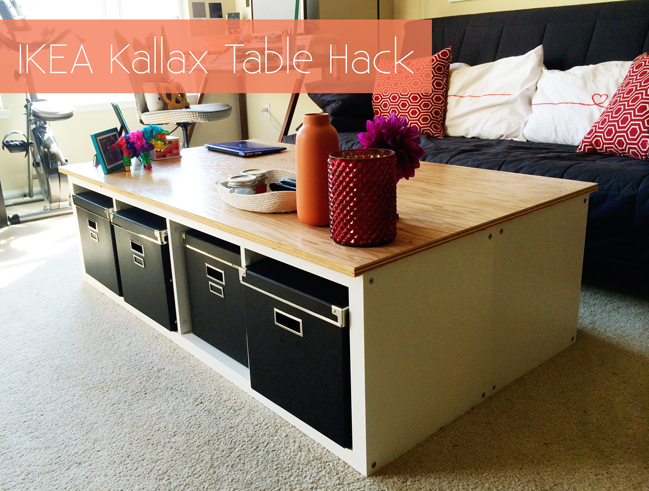 ikea kallax table hack. Black Bedroom Furniture Sets. Home Design Ideas