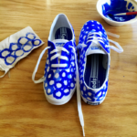 DIY Indigo Watercolor Sneakers