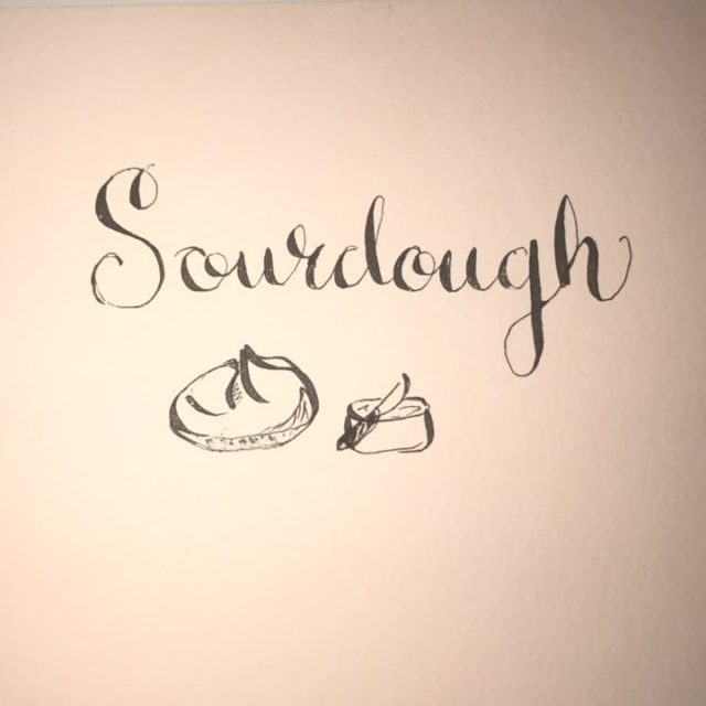 Someones got sourdough on the brain calligraphy doodlesofinstagram